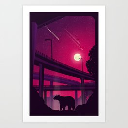 Over Passed Art Print