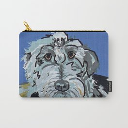 Irish Wolfhound Dog Portrait Carry-All Pouch