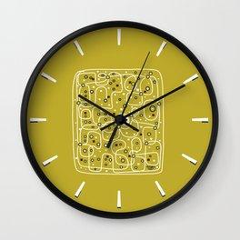 Seguridad [Gold] Wall Clock