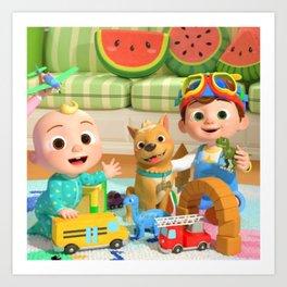 Cocomelon Nursery Rhymes Kids Songs Art Print