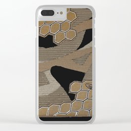 Cardboard honey bee Clear iPhone Case