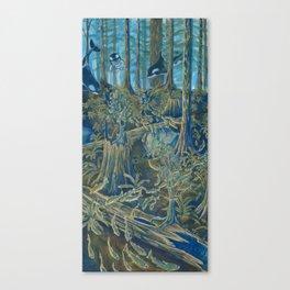 Forest Salmon Run  Canvas Print