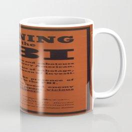 Vintage poster - Warning from the FBI Coffee Mug