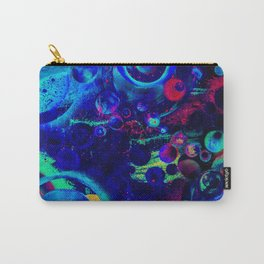 Bright Colorful Surreal Splash Painting Space Pattern Carry-All Pouch