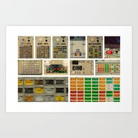 nasa Art Prints featuring Mission Control, NASA. by Pamela Steiner