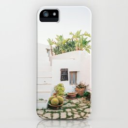 "Travel photography ""Ibiza Backyard"" | Modern wall art Ibiza Spain coast white tones sunset iPhone Case"