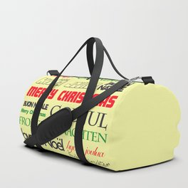 merry christmas in different languages I Duffle Bag