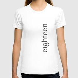 Eighteen Typo #society6 #decor #buyart T-shirt
