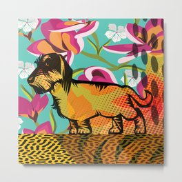 Dachshund  pop art Metal Print