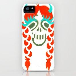 Happy braided Skull Lady_Fire Orange iPhone Case