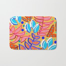 Whimsical Leaves Pattern Bath Mat