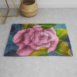Mauve Rose at Dusk Rug