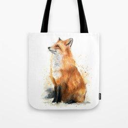 Fox Watercolor Red Fox Painting Tote Bag