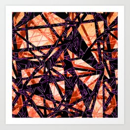 Fragment Gems (colourway orange and pink) Art Print