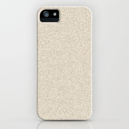 Melange - White and Khaki Brown iPhone Case