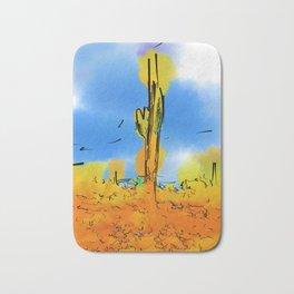 Lone Saguaro Cactus Bath Mat