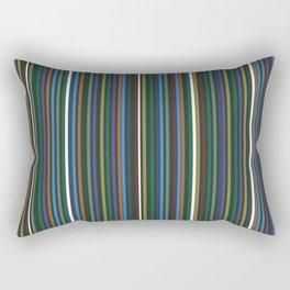 Thin Lines Beating a Visual Rhythm Rectangular Pillow