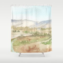 The Golan Heights - WC150615-12b Shower Curtain