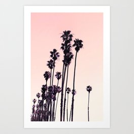 Pink Palm Sunset Art Print