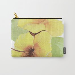 Gold Hibiscus Carry-All Pouch