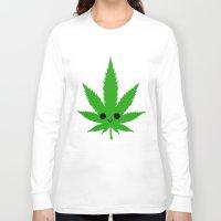 weed Long Sleeve T-shirts featuring kawaii weed by kidkb09