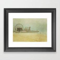 Seaside Heights Fun town pier New Jersey Framed Art Print