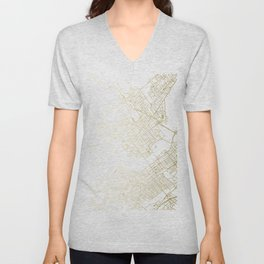 Wilkes-Barre Gold and White Map Unisex V-Neck
