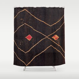 Feiija  Antique South Morocco North African Pile Rug Print Shower Curtain