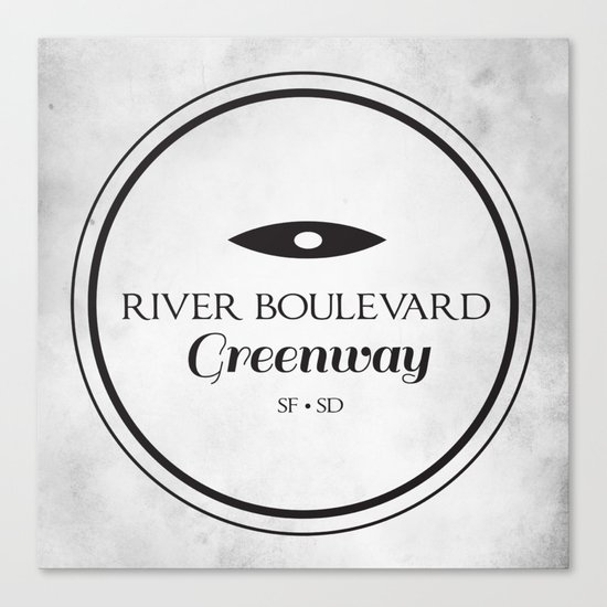 River Boulevard Greenway Canvas Print