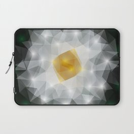 Abstract polygonal flower Laptop Sleeve