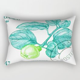 Branch of a Quince tree in Summer Rectangular Pillow