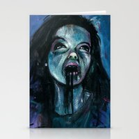 bjork Stationery Cards featuring BJORK by chris zombieking