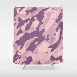 Colorful Marble Modern Light Rose Color Shower Curtain