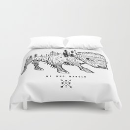 Buffalo | We Who Wander Threads Duvet Cover