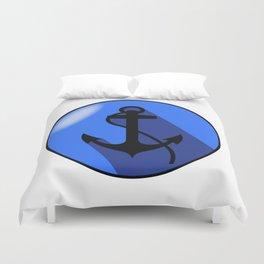 Anchor blue elliptical arms Duvet Cover