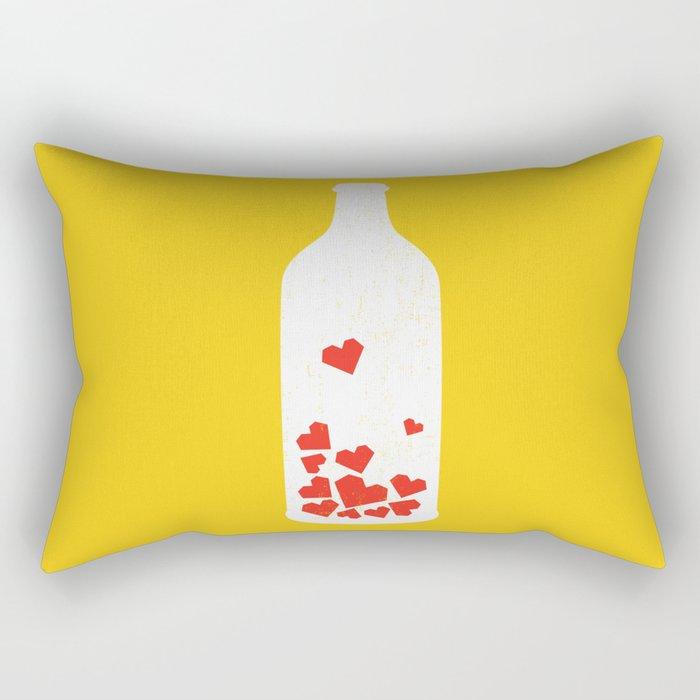 Message in a bottle Rectangular Pillow