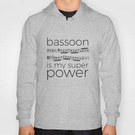 Bassoon is my super power (white) Hoody