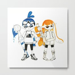 Inklings from Splatoon Metal Print