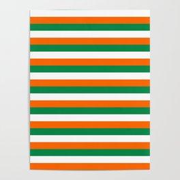 ireland ivory coast miami niger flag stripes Poster