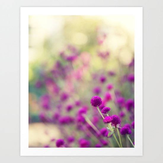 Purple Puffs Art Print