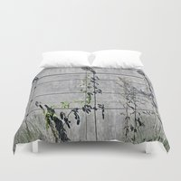the wire Duvet Covers featuring Wire Trellis  by Ethna Gillespie