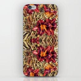 Red Daylilies, Flower Garden iPhone Skin