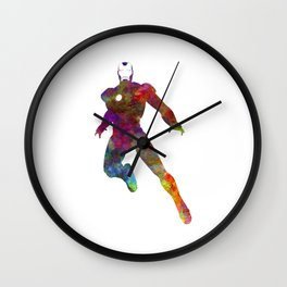 Iron man 02 in watercolor Wall Clock
