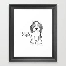Dog Breeds: Beagle Framed Art Print