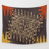 ethnic Wall Tapestries featuring Ethnic by Sonia Marazia