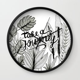 Take a journey Wall Clock