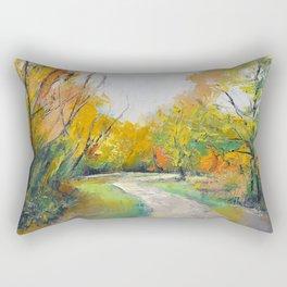 Autumn Woodland Path Rectangular Pillow