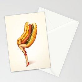 Hot Dog Girl Stationery Cards