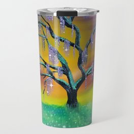 Entanglement, colorful tree landscape, beautiful landscape, cypress tree Travel Mug