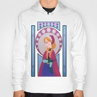 anna Hoodies featuring Anna by Shelby Wolf